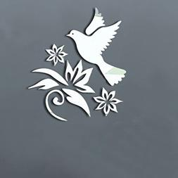AlrensSilver Peace Dove Pigeon Flowers Olive Branches Patter