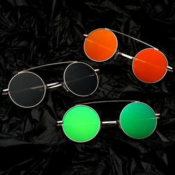 Small Circle Round Mirrored Sunglasses Retro Vintage Fashion