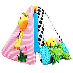 Zooawa Baby Soft Cloth Activity Book, 3D Stereo Animal Mirro