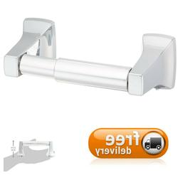 Spring-Loaded Toilet Paper Holder Mirror-Like Chrome Finish