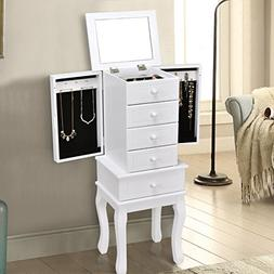 Giantex Jewelry Cabinet Armoire with 5 Drawers, Storage Ches