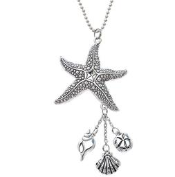 STARFISH Car Charm w/ Dangle Charms & Ball Chain for Rearvie