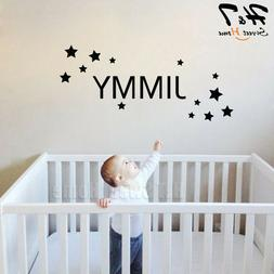 Stars Custom Name Removable Vinyl Wall Sticker Decal Kids Ro