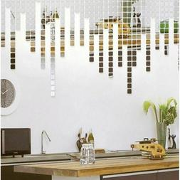 Stickers Plastic Acrylic Mirror Wall Decal Square For Kids R