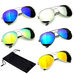 SUNGLASSES Men Women Mirror Mens Womens UV400 New Lens Frame