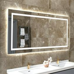 "Super Large 41.3"" LED Illuminated Bathroom Mirror Anti Fog V"
