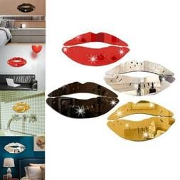 Surface Creative DIY Acrylic Mirror Wall Sticker 3D Kiss Lip