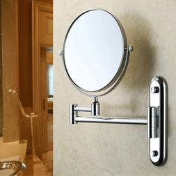 Swing Arm Wall Mount Bathroom Beauty Magnifying Makeup Mirro