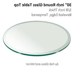thick beveled tempered round table
