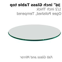 thick ogee tempered round table