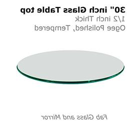 "Fab Glass and Mirror 1/2"" Thick Ogee Tempered Round Glass Ta"