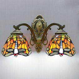 Tiffany Stained Glass Style LED Wall Lamp Handcraft Vanity M