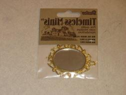 Darice, Timeless Miniatures Gold Oval Mirror