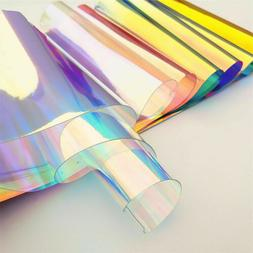 Holographic Iridescent Clear Transparent PVC Fabric Mirror M