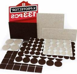 X-PROTECTOR Premium TWO COLORS Pack Furniture Pads 133 piece