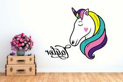 unicorn rainbow wall decal for baby personalized