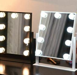 US Hollywood Makeup Mirror Tabletop with Daylight Mirror Dim