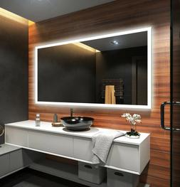 US LED Backlit Bathroom Mirror L01 To Measure Custom Size Il