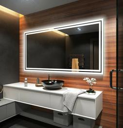 US LED Backlit Bathroom Mirror L57 To Measure Custom Size Il