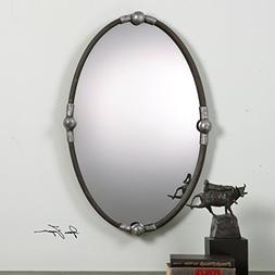 The Uttermost Carrick Black Oval Mirror