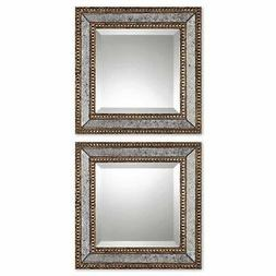 Uttermost 'Norlina Squares' Antique Mirror  - Grey/Gold