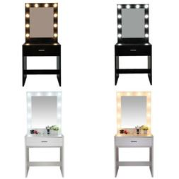 Vanity Makeup Table Set with Lighted Mirror Women Dressing T