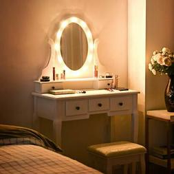 Strange Vanity Mirror With Lights And Table Stoo Pabps2019 Chair Design Images Pabps2019Com