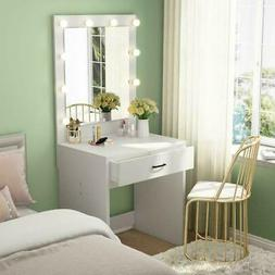 Vanity Set with 10 Warm Lighted Mirror Makeup Dressing Table
