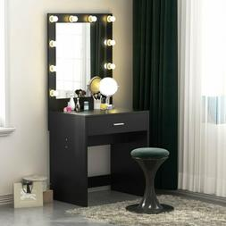 Tribesigns Vanity Set with Lighted Mirror,Makeup Dressing Ta