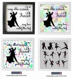 Vinyl Sticker fit IKEA BOX FRAME DANCE with your Heart and y