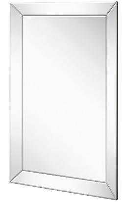 Wall Mirror Hamilton Hills with Angled Beveled Mirror Frame