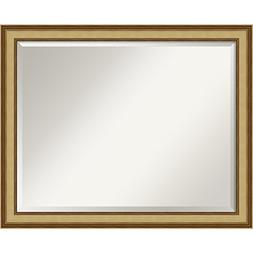 Wall Mirror Large, El Dorado Gold Wood: Outer Size 32 x 26""