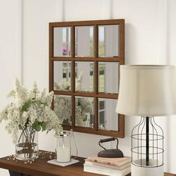 Wall Mirrors For Living Room Bedroom Rustic Window Pane Fren