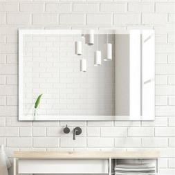 Wall Mount Mirror Bathroom Vanity Frameless Mirrors Bedroom