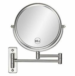 ALHAKIN 8-Inch Wall Mount Mirror Two-Sided 360 Swivel Extend