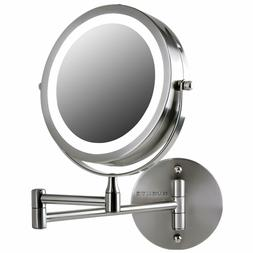 Ovente Wall Mounted Vanity Mirror 7 Inch 7X Magnification Br