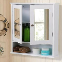 Wall Mounted Bathroom Cabinet with Mirror Door Medicine Cabi