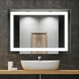 "HOMCOM 28"" LED Bathroom Wall Mirrors with Illuminated Light"