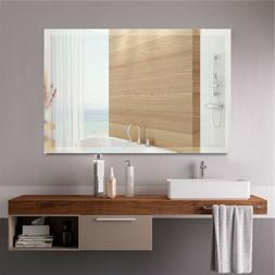 Wall Mounted Mirror Bathroom Vanity Large Frameless Bedroom