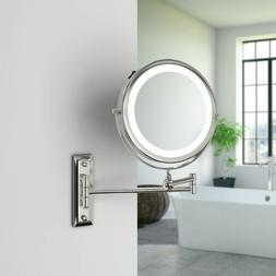 Wall Mounted Vanity Makeup Mirror, 7X Magnifing Double Sided