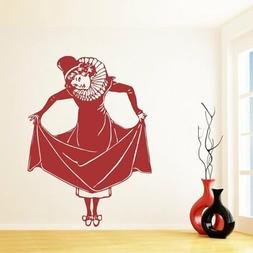 Wall Sticker Happy Girl room decorations DIY home decals vin