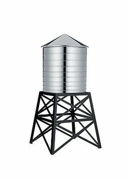 Alessi Water Tower Kitchen Container in Stainless Steel, Mir