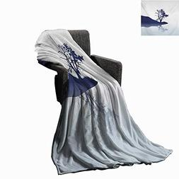 Anyangeight Nature Weave Pattern Extra Long Blanket Silhouet