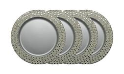 "GiftBay Wedding Metal Charger Plates Metal, 13"" Round, Set o"