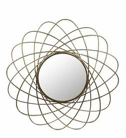 Brayden Studio Westberry Iron Round Wall Accent Mirror