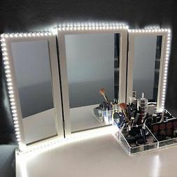 10FT White Dressing Mirror Lighted Cosmetic Makeup Vanity LE