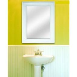 White Framed Wall Mirror Modern Bathroom Vanity Rectangle Be