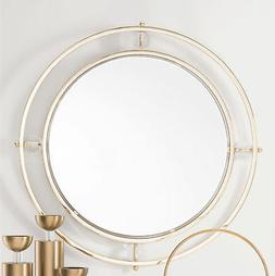 Brayden Studio Whorton Floating Round Lucite Accent Mirror