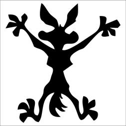Wile E Coyote Decal / Sticker - Choose Color & Size - Road R