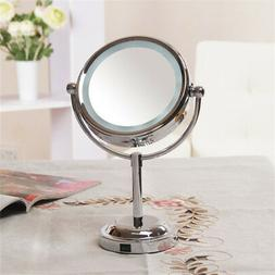 Women LED Lighted Makeup Mirror Magnifying Round Shape Cosme